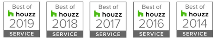 Designs by Gia was rated at the highest level for client satisfaction by the Houzz community. Best of houzz Award: 2019, 2018, 2017, 2016, 2014!