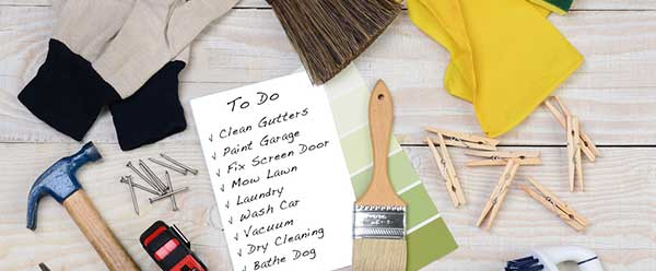 Make a list of the areas in your home that are causing you stress.