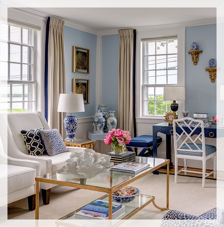 You don't need to live by the sea to create a coastal-inspired space.