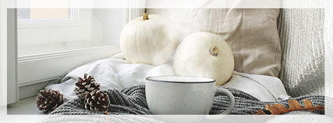 Change out the throw pillows by adding tactile soft textured pillows to your sofa or bed.