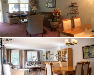 Before/After- Cannon Living room